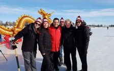 The CK Raging Dragons at the Ice Dragon Boat Race in Ottawa. (Photo courtesy The Raging Dragons of Chatham-Kent Dragon Boat Race Team/Facebook)
