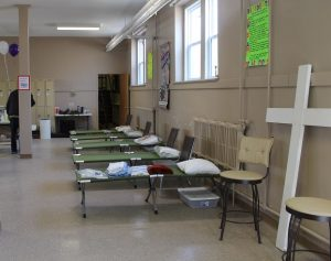 Beds at the men's shelter in Chatham. February 20, 2017. (Photo by Natalia Vega)