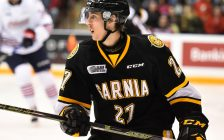 Sean Josling of the Sarnia Sting. Photo by Aaron Bell/OHL Images
