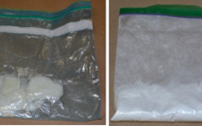 Methamphetamine and cocaine seized during a drug bust by Woodstock police, January 31, 2017. Photo courtesy of Woodstock police.