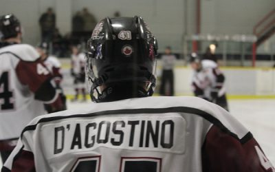 Chatham Maroons forward Brendan D'Agostino. February 4, 2017. (Photo by Matt Weverink)