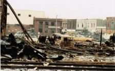 Devastation after a natural gas explosion in downtown Essex, February 14, 1980. (Photo courtesy of the Town of Essex)