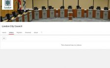 Screen capture of London City Council's Youtube page.