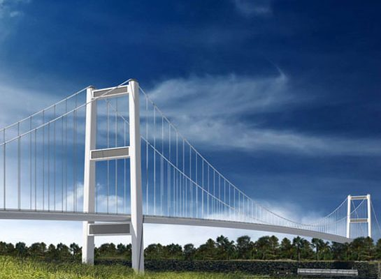 An artist rendering of the possible suspension design of the Gordie Howe International Bridge, courtesy of Infrastructure Canada.