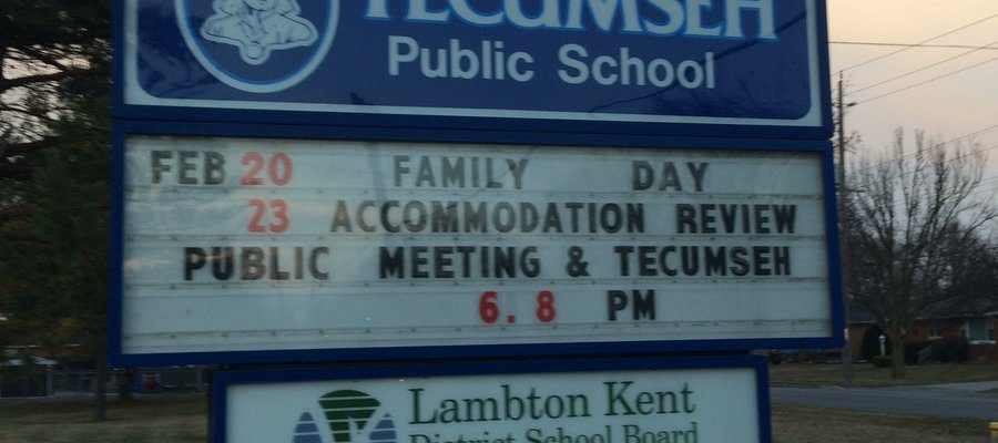 Public meeting at Tecumseh Public School. February 23, 2017. (Photo by Paul Pedro)