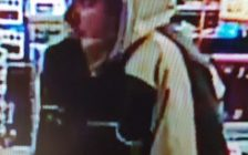 Suspect in a convenience store robbery on Seminole St., March 30, 2017. (Photo courtesy the Windsor Police Service)