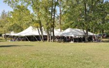 Tents used during an event in the summer of 2016. (Photo courtesy Kent Tent)