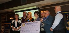 Members of the Rotary Club of Sarnia present Bluewater Health Foundation Executive Director Kathy Alexander with the final installment of their $1-million donation. March 27, 2017 BlackburnNews.com photo by Melanie Irwin