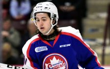 Jeremy Bracco of the Windsor Spitfires. (Photo by Aaron Bell/OHL Images)