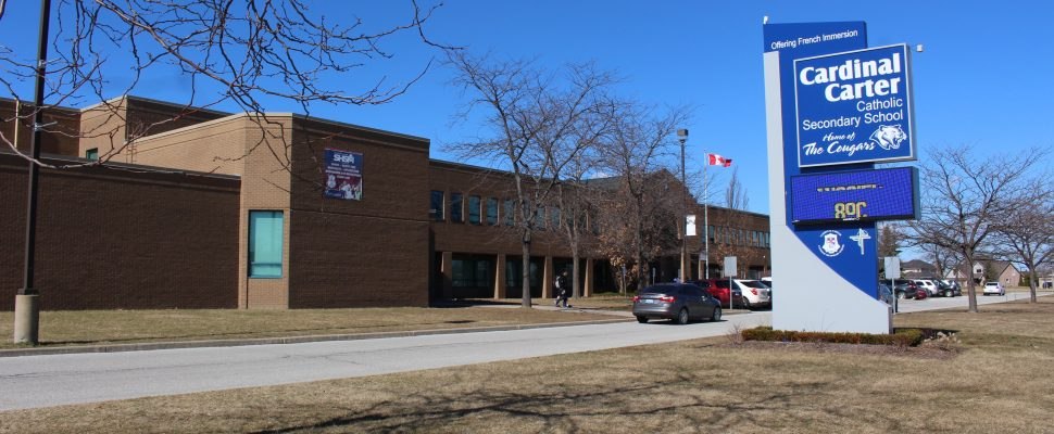Cardinal Carter Secondary School in Leamington, March 8, 2017. (Photo by Maureen Revait)