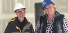 Hospice project manager Chris Masterson and Jennifer Wilson during construction at the Chatham-Kent Hospice.  (Photo courtesy of Jennifer Wilson)