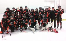 Kent Teksavvy Cobras Bantam AE team. March 2017. (Photo courtesy of the Kent Minor Hockey Association)