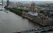 British Parliament buildings and Westminster Bridge from London Eye May 2016 (BlackburnNews.com photo by Dave Dentinger)