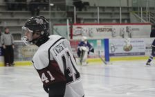 Maroons forward Brendan D'Agostino warms up ahead of a game against the London Nationals. March 16, 2017. (Photo by Matt Weverink)