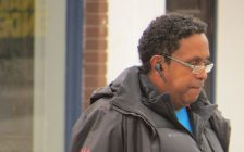Keith Charles outside of the Provincial Offences court on Dundas St., March 20, 2017. (Photo by Miranda Chant, Blackburn News.)