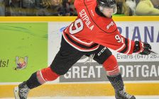 Ethan Szypula of the Owen Sound Attack. Photo by Terry Wilson / OHL Images.
