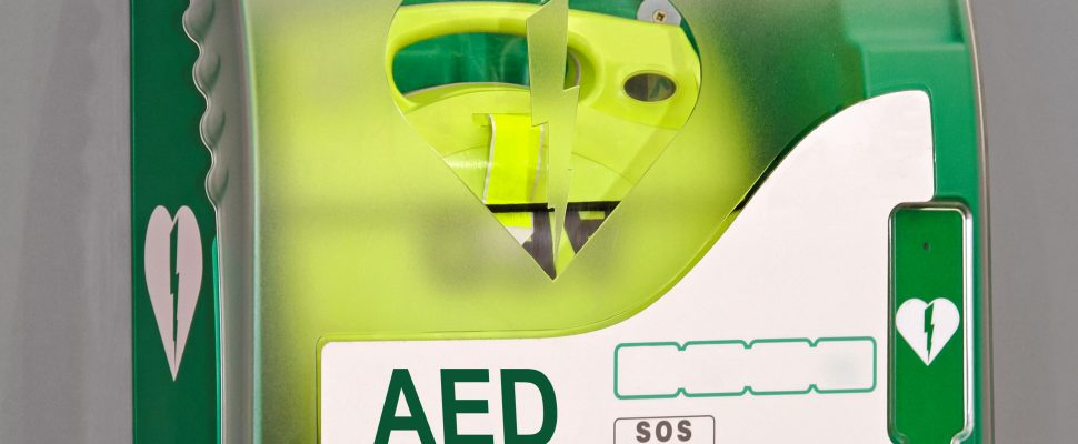 Automated External Defibrillator portable electronic life saver. (Photo courtesy of © Can Stock Photo / Baloncici)