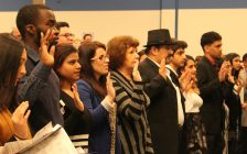 New Canadian citizens take the oath to the country, March 8, 2017. (Photo by Maureen Revait)