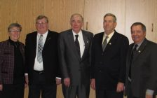 Jim Hayter, second from right, with other members of Brooke-Alvinston Council. Photo from brookealvinston.com