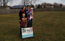 The 4th Habitat for Humanity Chatham-Kent family, Nicole Spall, Lee Chrysler, and their children Luca & Kylie. (Photo courtesy of Habitat for Humanity)