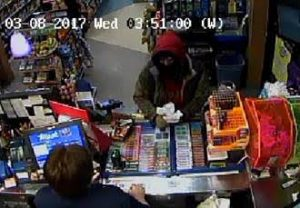 Robbery suspect in Thamesville. March 08, 2017. (Photo courtesy of CKPS)