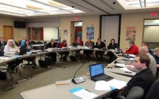Bluewater District School Board committee of the whole meeting, April 4, 2017. (photo by Kirk Scott)