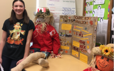Dana Tulloch won the Ontario Library Research Award during the Grey Roots Heritage Fair for her presentation on the history of the Meaford Scarecrow Invasion and Family Festival (photo submitted)