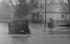 Damage from the flood of 1937 in London. Photo courtesy of the Upper Thames River Conservation Authority.