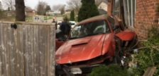 A vehicle crashed into the front of a duplex on Culver Dr., April 19, 2017. Photo courtesy of Anita Garnet.