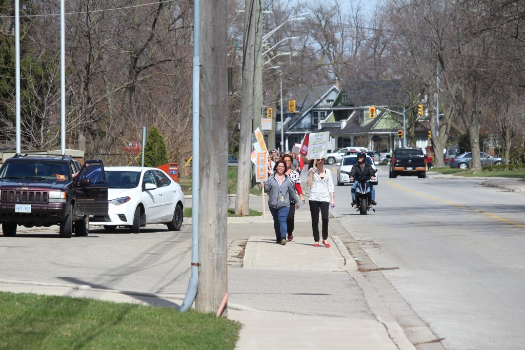 staff picketing outside of riverview gardens nursing home in chatham april 2 2017 photo by natalia vega - Riverview Gardens Nursing Home