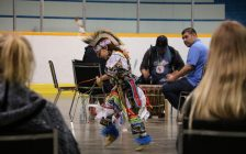 Lambton College's 25th annual pow wow, special educational awareness day. April 7, 2017 BlackburnNews.com photo by Meghan Bond