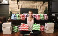 Olivia Musico displays Steph's Self Care Packages March 29, 2017 BlackburnNews.com photo by Meghan Bond