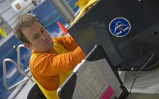 Dr. Erik Kroeker during the second series of aptitude tests. (Photo courtesy of © Canadian Space Agency)