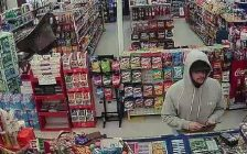 LaSalle Police would like to speak to this man in connection to an April 2, 2017 theft.  (Photo courtesy LaSalle Police Service/Facebook)