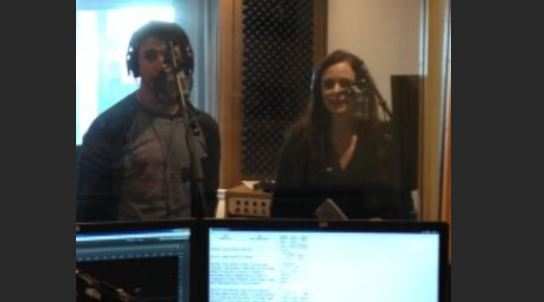Tessa Virtue and Scott Moir at Blackburn Radio London