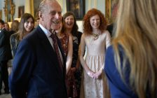 HRH The Duke of Edinburgh with guests at Hillsborough Castle during a visit to present 100 Gold Award Certificates to Duke of Edinburgh's Award. (Photo courtesy of Aaron McCracken / Harrisons via Flickr)