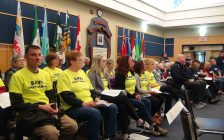 People pack Grey County Council to hear discussion on long term care homes. (Photo by Kirk Scott)