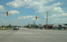 The intersection of Manning Rd and County Rd 22 at the Tecumseh-Lakeshore border is seen on May 18, 2017.  Photo by Mark Brown/Blackburn News.