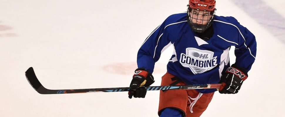 Grayson Ladd of the Chatham-Kent Cyclones at the 2017 OHL Combine in Oshawa, ON on April 2, 2017. Photo by Aaron Bell/OHL Images
