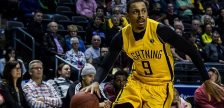 Doug Herring Jr. of the London Lightning in action against the Windsor Express in Game 1 of the NBL Central Division Finals at Budweiser Gardens, May 12, 2017 (Photo courtesy London Lightning/NBL Canada)