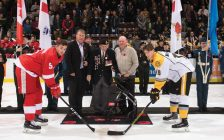 Bill Abercrombie Takes Part In Opening Ceremonies At Sarnia Sting Game (Photo Courtesy of Sarnia Sting)