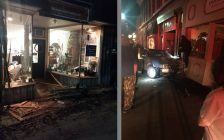 The scene after a car smashed into the front of Bailey's Saddlery in Ridgetown. May 23, 2017. (Photos courtesy of Todd Bailey via Facebook and Corey Forbes via email)