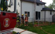 Firefighters respond to a an accidental kitchen fire in Wallaceburg. May 18, 2017. (Photo courtesy of Chatham-Kent Fire and Emergency Services)