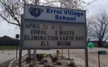 Errol Village School hosted an e-waste collection site for Earth Day 2017. Photo submitted by Royal Canadian Geographical Society.