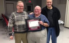Rolly Marentette is shown in the centre. Photo courtesy of the Windsor and District Labour Council.