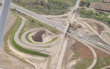 Aerial shots of 40/401 construction. June 02, 2017. (Photo courtesy of Municipality of Chatham-Kent)