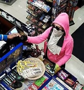 Person suspected of robbing a convenience store on Howard Ave. in Windsor, June 13, 2017. (Photo courtesy the Windsor Police Service)