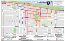 A map of all road closures and detours in downtown Windsor on fireworks night, June 26, 2017. (Photo courtesy of the Windsor Police Service)