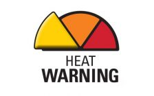 A heat warning graphic from the Windsor-Essex County Health Unit, June 2017. (Photo courtesy the WECHU)