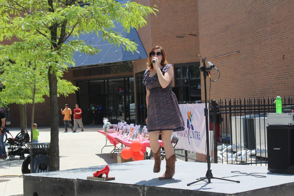 "Singer at ""Walk a Mile in Her Shoes"" Event"